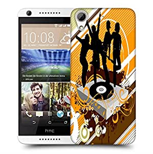Snoogg Black Rock Band Designer Protective Back Case Cover For HTC 626