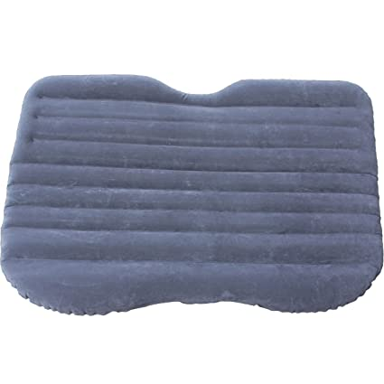 SRXL Car Inflatable Air Mattress Bed Flocking Fabric (Gray)
