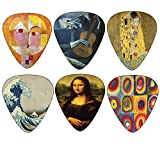 Creanoso Awesome Famous Arts Special Guitar Picks ((4) Famous Arts Theme)