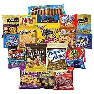 Sweet Cookies, Crackers & Snacks Variety Pack Bundle Includes Grandmas Cookies, Oreos, Chips Ahoy, Rice Krispies, Back To Nature & More Includes Recipes By Custom Varietea Bulk Sampler 20 Packs