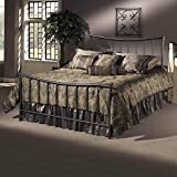 Hillsdale Furniture 1333BTWR Edgewood Bed Set with Rails, Twin, Magnesium Pewter