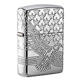 Zippo Patriotic Design Pocket Lighter (Color: High Polish Chrome, Tamaño: One Size)
