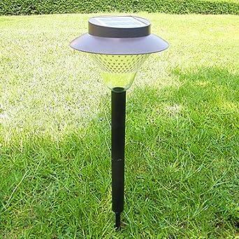 solar 8 led white light outdoor plastic landscape garden