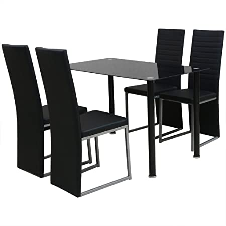 vidaXL Essgruppe Sitzgruppe Esstisch 4 Stuhlen Esszimmerstuhl Sitzgarnitur Tisch modern