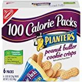 100 Calorie Packs Planters Peanut Butter Cookie Crisps, 6-Count Packs (Pack of 6) ~ 100 Calorie Packs