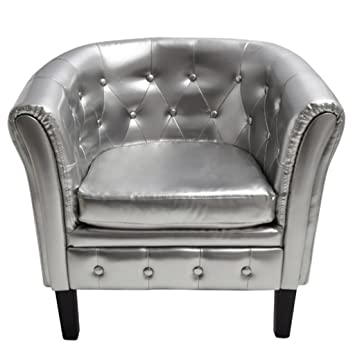Sillón Chesterfield Plata
