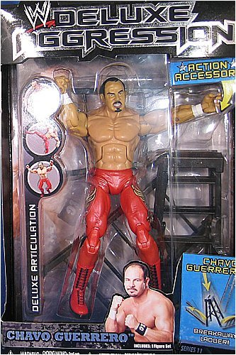 Picture of Jakks Pacific W Deluxe Aggression Series 11 Action Figure + Action Accessory - Chavo Guerrero (B0014F3HQE) (Jakks Pacific Action Figures)