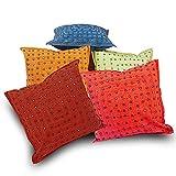Jaipur RagaSpecial Colourful Handmade Multicolour Cotton Cushion Covers Set