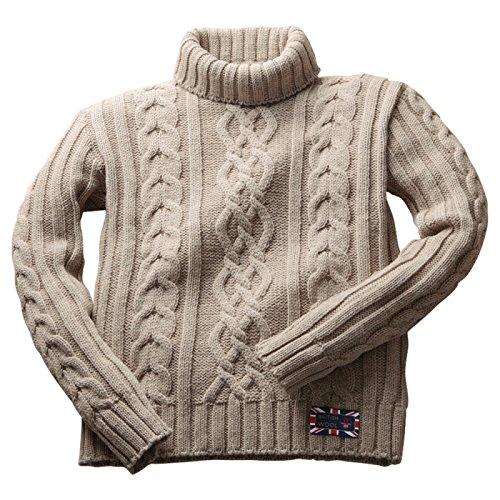 Amazon.co.jp: セーター ニット 長袖 メンズ 紳士用 英国製タートルネックケーブルセーター 67974: 服&ファッション小物通販