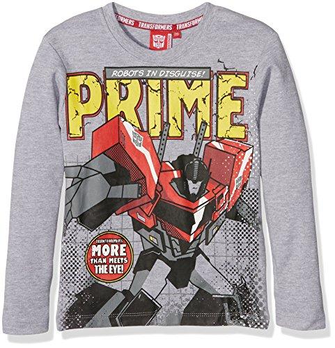 Hasbro Transformers T-Shirt Optimus Prime Robots IN Disguise Manica Lunga-Originale, Maglietta Bambino, Grigio Melange, (ANNI) 2-3