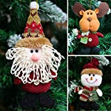 Generic Snowman : New 2017 Santa Claus Snow Man Reindeer Doll Christmas Decoration Xmas Tree Hanging Ornaments