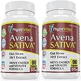 Avena Sativa 180 Capsules BEST DEAL ANYWHERE! Oat Straw Men's Energy And Vitality Physiovites Avena Sativa 900mg 180 Capsules 2 Bottles