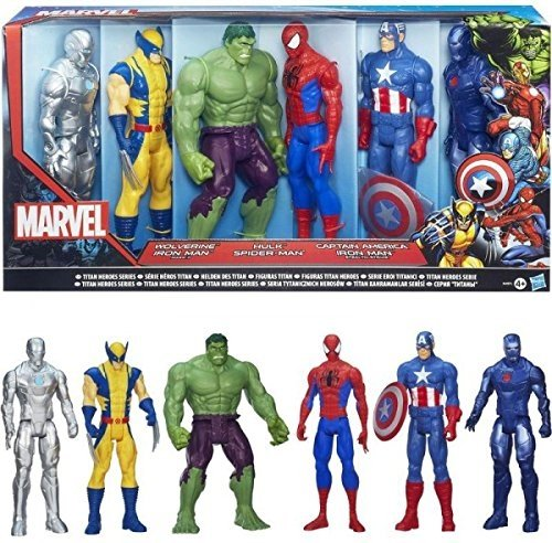 MARVEL TITAN HEROES SERIES A4971 HASBRO WOLVERINE IRON MAN HULK SPIDERMAN