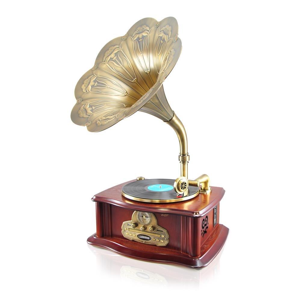 Máy phát nhạc đĩa than, bluetooth PYLE xách tay từ Mỹ