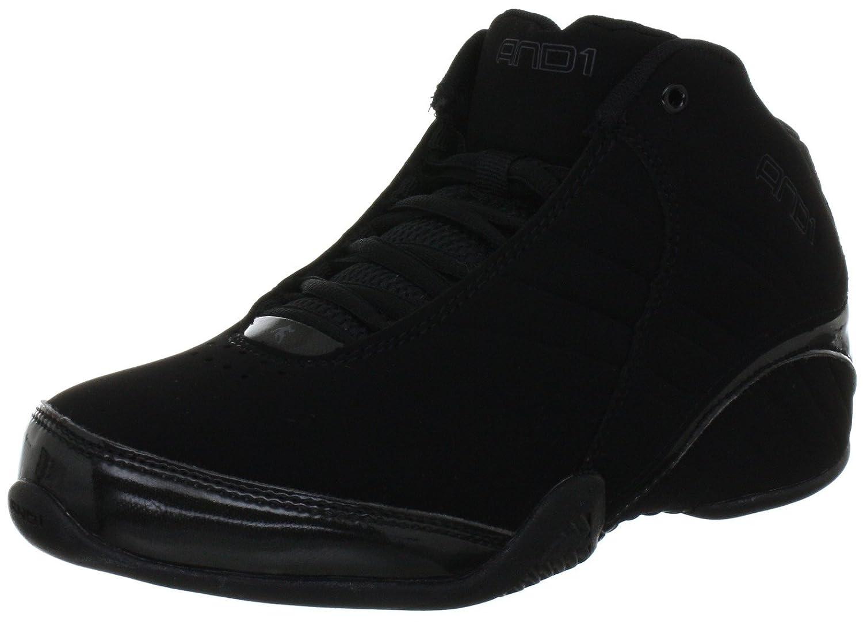 AND 1 Men's Rocket 3.0 Mid Basketball Shoe, Black/Black,11.5 M US/10.5 M UK