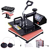 WeChef 12x15 Digital Heat Press Machine 5 in 1 Multifunctional Sublimation Transfer for T Shirt Mug Hat with Gloves