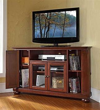 Crosley Alexandria 48 in. Corner TV Stand - Vintage Mahogany