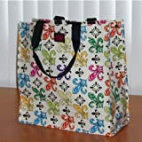 Fleur De Lis Design - Poly Shopping Tote- Recycled/reusable