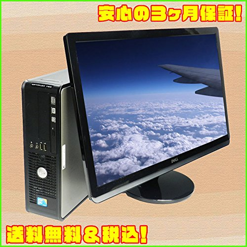 中古パソコン DELL OPTIPLEX 780sff C2D 2.93GHz MEM:4GB HDD:250GB 22インチワイド液晶セット Windows7-Pro