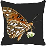 Leaf Designs - Brown And Black Cushion Cover