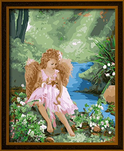 Diy Paint By Number Kits For Sunshine Angels With Wooden Frame