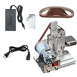 Belt Sander, KKmoon Multifunctional AC 110-240V Grinder Mini Electric Belt Sander DIY Polishing Grinding Machine Cutter Edges Sharpener (Color: Sliver, Tamaño: Type 2)