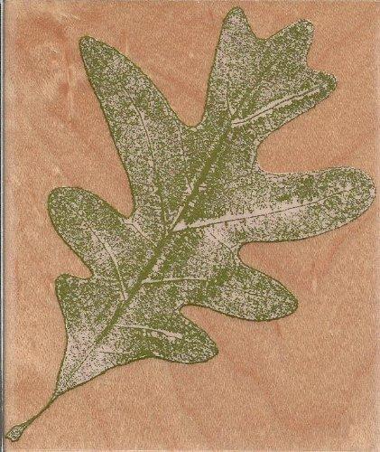 Oak Leaf Wood Mounted Rubber Stamp (N2104)