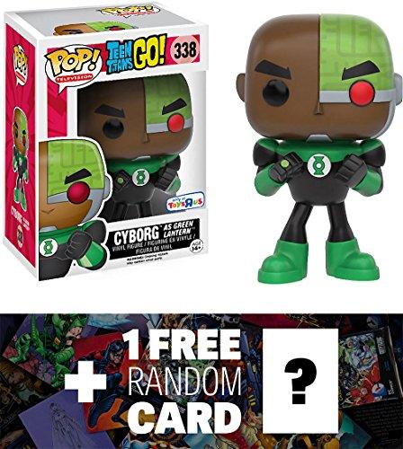 "Cyborg as Green Lantern (Toys ""R"" Us Exclusive): Funko POP! x Teen Titan Go! Vinyl Figure + 1 FREE Official DC Trading Card Bundle (102735)"