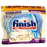 8 x 10 Tabs Finish Power and Pure Quantum Poweball Dishwasher Tablets with Active Oxygen (80 Tablets)