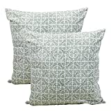 Store Indya Set of 2 Cushion Covers Hand Woven in Pure Cotton Throw Pillow Case Home Sofa Decorative