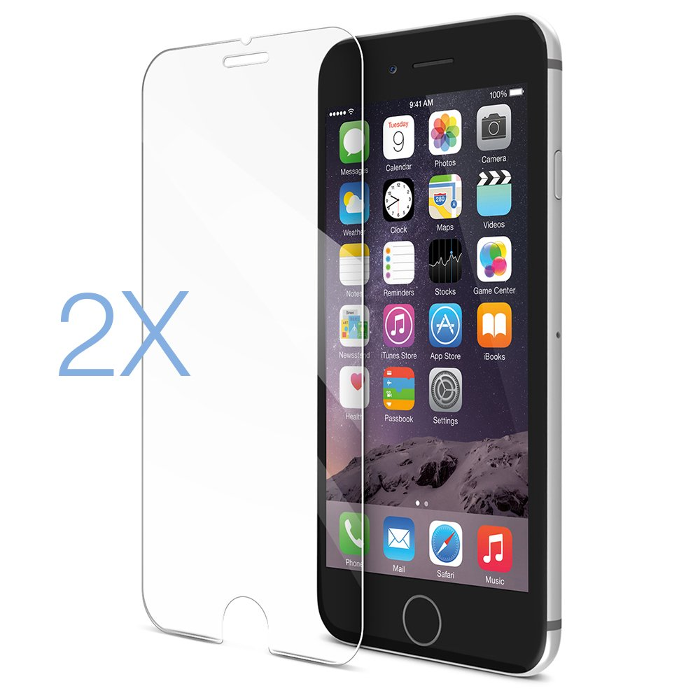 (2 Pack) iPhone 6 Plus Screen Protector, Maxboost® (Tempered Glass) 0.2mm iPhone 6 Plus Glass Screen Protector Work with iPhone 6 Plus 2014 5.5 inch and Most Protective Case (Lifetime Warranty)