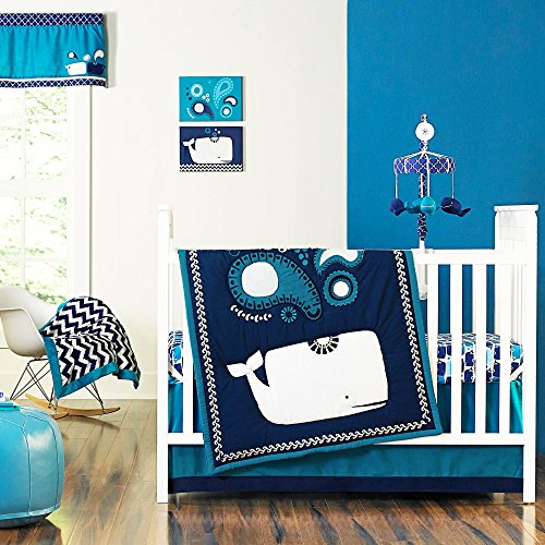 Party Whale 4 Piece Baby Crib Bedding Set By Jonathan Adler front-30184