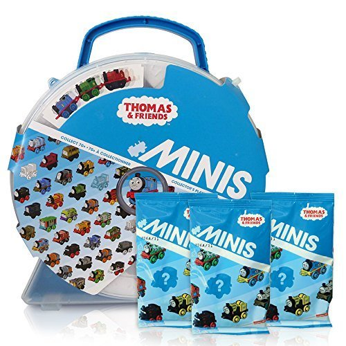 THomas & Friends Minis Collectors Playwheel Storage Case includes Mini Golden Thomas and 3 Packs of Blinds (Fisher Price Mini Bag compare prices)