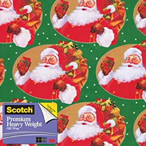 Scotch  Gift Wrap, Santa's Sack Pattern, 25-Square Feet, 30-Inch x 10-Feet (AM-WPSS-12)