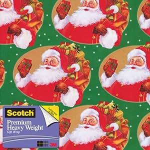 Scotch  Gift Wrap, Santa's Sack Pattern, 25-Square Feet, 30-Inch x 10-Feet (AM-WPSS-12)