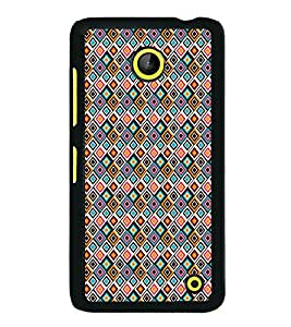 iFasho Animated Pattern design colorful in royal style Back Case Cover for Nokia Lumia 630