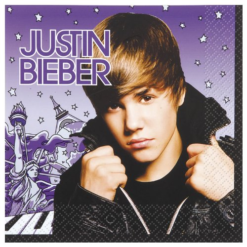 Justin Bieber Lunch Napkins Package of 16