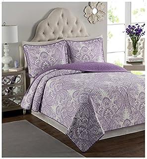 Fundeco colcha bouti lacy morado cama de 150 for Colcha blanca cama 150