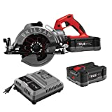 SKILSAW SPTH77M-21 48V 7-1/4 In. TRUEHVL Cordless Worm Drive Saw Kit With 2 TRUEHVL Batteries