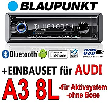 Audi a3 8L brisbane bLAUPUNKT - 230/mP3/uSB avec kit de montage autoradio avec bluetooth