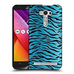Snoogg Blue Tiger Skin Designer Protective Back Case Cover For ASUS ZENFONE SELFIE