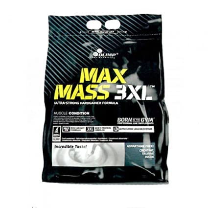 "Olimp MAX Mass 3XL (6000g) Erdbeere -""Ultra-Strong Hardgainer Formula"""