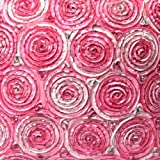 Oops!! (Single) Two Tone 3d Bouquet of Pink Roses Throw Cushion Cover/pillow Sham Handmade By Satin and Thai Silk for Decorative Sofa, Car and Living Room Size 16 X 16 Inches. On Sell with Complimentary