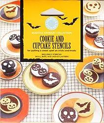 Martha Stewart Halloween Cookie and Cupcake Stencils - Skull, Bats, and Jack-o-lantern