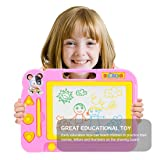 Magnetic Drawing Board ,Portable Magna Graffiti erases Children's Toys,Pink (Color: Pink, Tamaño: Magnetic Drawing Board)