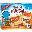 Nestl� B�b� P'tit Dej Biscuit - Brique Lait & C�r�ales d�s 6 mois - 2 x 250ml - Lot de 4 (8 briques de 250ml)
