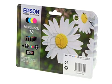 Epson Expression Home XP-402 (18 / C 13 T 18064010) - original - Inkcartridge multi pack (black, cyan, magenta, yellow) - 175 Pages