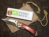 Parker River Classic Pocket Knife Red Grain Wood Handle