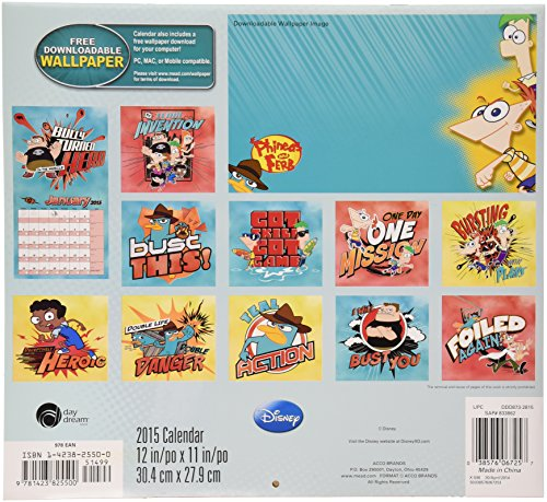 Calendar Wallpaper Program : Disney phineas and ferb wall calendar software