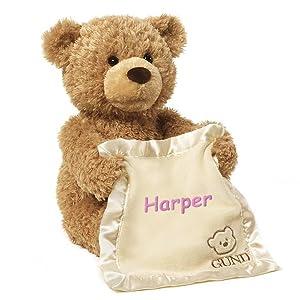 Personalized Peek A Boo Plush Toy (Brown Peek A Boo Bear) (Color: Brown Peek A Boo Bear)